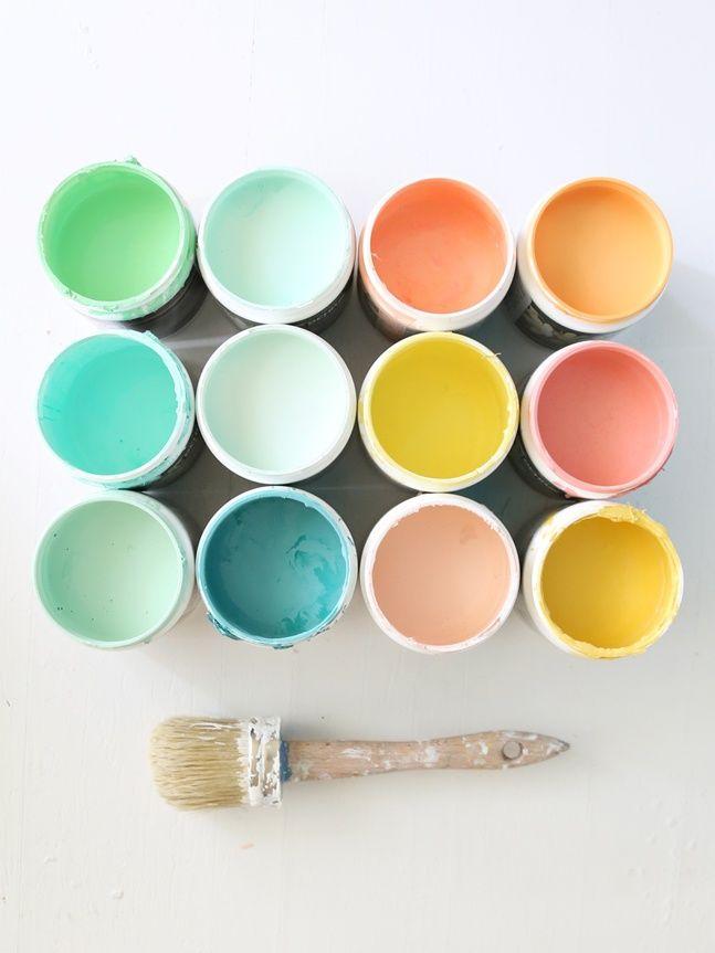 Tarros de pintura